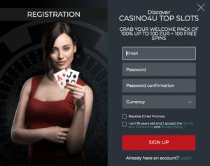 Casino4u Registration